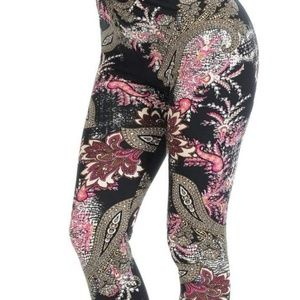 Pants - Floral paisley leggings
